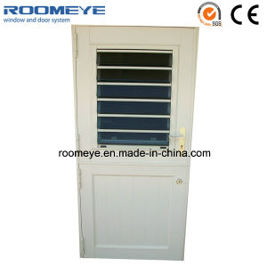 Aluminium Casement Door with Jalousie Window Louver Windows and Doors pictures & photos