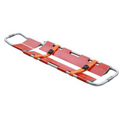 Single Foldable Scoop Stretcher with Two Belts and Lacquered Surfacewith pictures & photos