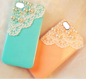 Sweet Lace Pearl TPU Phone Case for iPhone 4/4s/5 pictures & photos