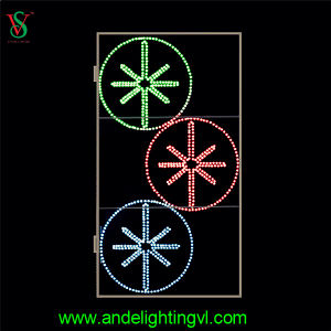 Fancy Street Light with Colorful LED Motif Light pictures & photos