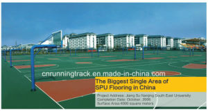 Stable Rebound Spu Sports Flooring System for Game Court pictures & photos