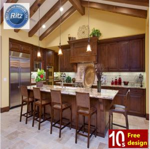 Classic Solid Wood Furniture Wooden Kitchen Cabinet High Quality Customized pictures & photos