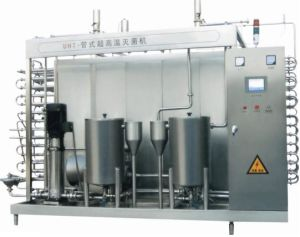 Full Automatic 6000L/H Pipe Uht Milk Sterilizer pictures & photos