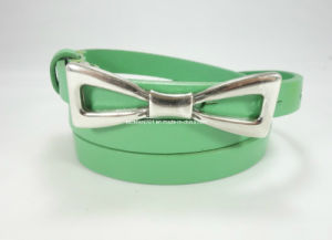 Skinny Fashion Leather Lady Belt for Fashion Accessories (EUBL0915-15) pictures & photos