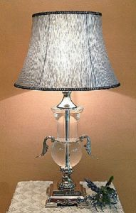 Phine 90166 Clear Crystal Table Lamp with Fabric Shade pictures & photos