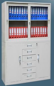 4-Door 6-Drawer Metal Office Storage Wardrobe Lockers pictures & photos
