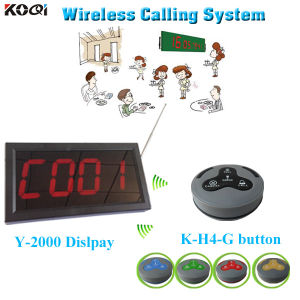 Koqi K-2000 Display with Table Button K-H4-G Customer Counter Systems pictures & photos