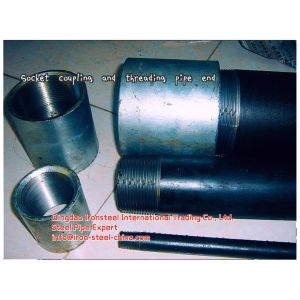 Seamless Steel Pipe with Threading End and Coupling pictures & photos