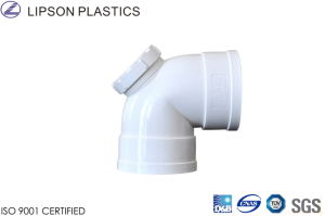 PVC Drainage Fittings White Elbow with Inspection pictures & photos