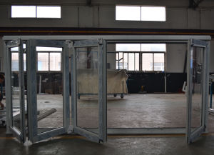 High Quality Thermal Break Aluminum 4 Sashes Folding Door K07004 pictures & photos