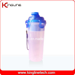 500ml Plastic Protein Shaker Bottle with Filter and Lanyard (KL-7402) pictures & photos