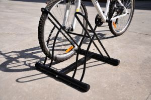 Black Powder Coated Indoor Floor Mounted Bicycle Parking Rack (PV-2B) pictures & photos