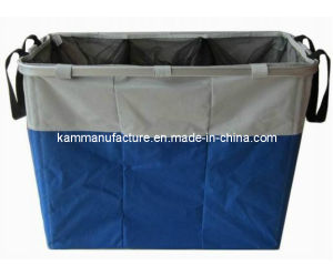 Three Compartment Laundry Basket (KM3425) pictures & photos
