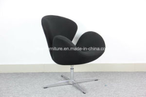 Grey Wool Fabric Swan Chair with Aluminium Alloy Legs pictures & photos