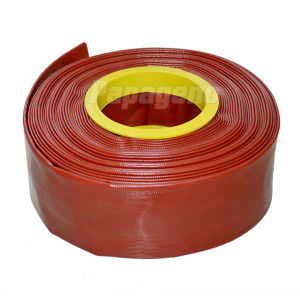 Dark Red Large Diameter Water Irrigation PVC Flat Hose/Pipe pictures & photos