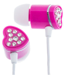 High Quality Cheap Crystal Rhinestone Heart Earphone Cable pictures & photos