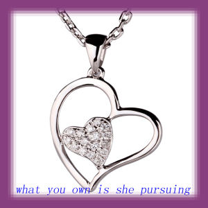18k White Gold Pendants With Diamond (HHP011)