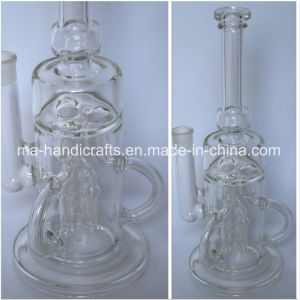 """14"""" Recycle Smoking Bubbler Glass Water Pipes Tobacco Pipe pictures & photos"""