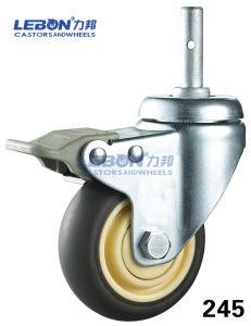 Medical TPR Grip Ring Stem Locking Castor
