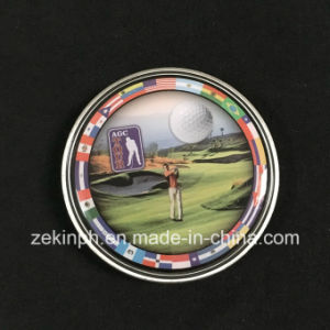 Customized Challenge Coin with Printed Sticker pictures & photos