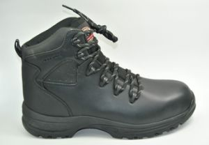Safety Shoes with Steel Toe and Steel Plate PU Outsole Middle Cut Miner Shoes