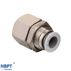 Pneumatic Connecting Fittings Bulkhead Female Straight/Pmf pictures & photos