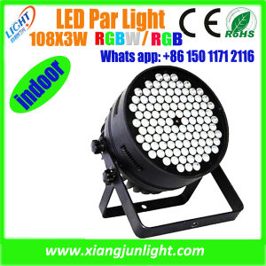 New LED Wash PAR Light 108*X3w RGBW/RGB for Stage Lighting pictures & photos