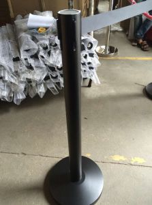 Black Metal Queue Control Retractable Barrier for Exhibition