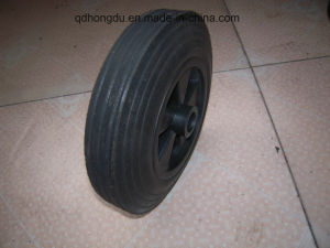 6 Inch Black Solid Powder Rubber Wheel pictures & photos