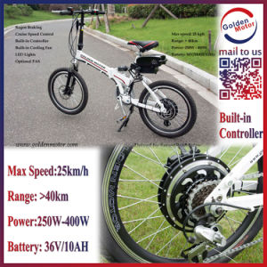 20′′ Folding Ebike 25km/H Electric Bike with 40km Range (FEB-600F) pictures & photos