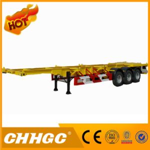 3 Axle Skeleton Semi Trailer with One Axle Lift pictures & photos