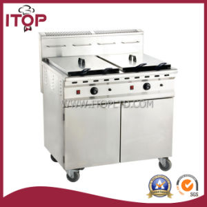 Gas Deep Fryer with Cabinet and Wheels (PGF) pictures & photos