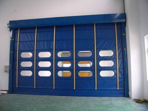 Blue Yellow Red PVC Fasting Shutter Door pictures & photos