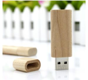 Wooden Material Cover Bottle Design USB 8g pictures & photos