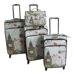 PU Bags and Cases Luggage Trolley Case Suitcase Jb-D004 pictures & photos