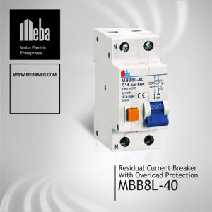Meba Residual Current Breaker with Overload Protection/RCBO Breaker (MBB8L-40)