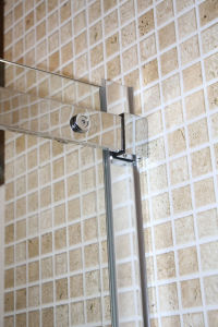Bathroom Tempered Glass Stainless Steel Sliding Shower Screen Door pictures & photos