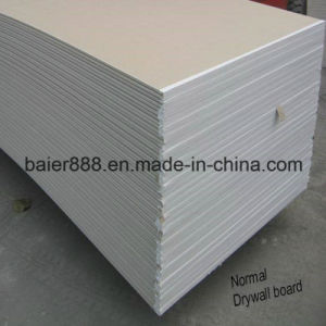 Paper Faced Drywall Plasterboard Gypsum Board for Building Material/Gypsum Ceiling Board/Moisture Proof Gypsum Board/Plasterboard/Gypsum Board 1220X2440X12mm pictures & photos