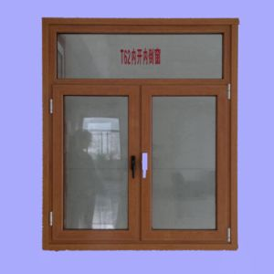 Wooden Print Aluminium Profile for Casement Windows pictures & photos