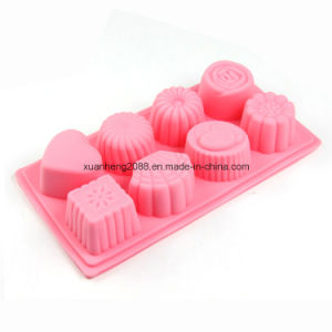 3D Silicone Mold 8PCS Flower Shape Mould for Soap Candy Chocolate Ice Cake pictures & photos