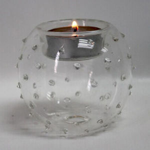 Glass Candle Holders, New Design, Customized Logo Is Acceptable (ZT-036) pictures & photos