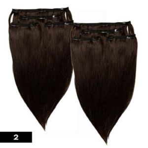 Tangle and Shedding Free European Remy Clips in Human Hair pictures & photos