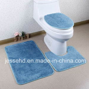 Simple Design 3PCS Bathroom Toilet Mat Set pictures & photos