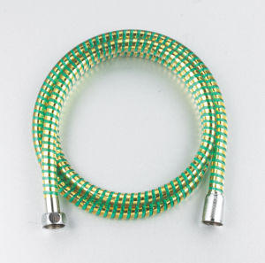 PVC Transparent Silver Shower Hose (F16-3)