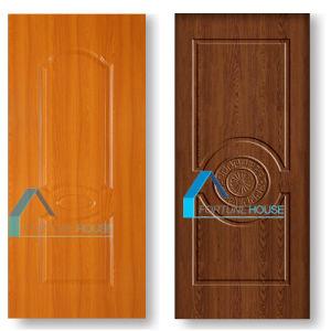 Yellow Teak Colormelamine Molded Door Skin for Interior Doors pictures & photos