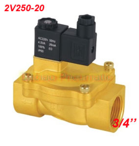 3/4′′ Pilot Operated Solenoid Valve 2 Way Brass Valve 2V250-20 Air Oil Water