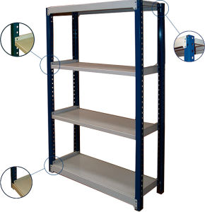 Light Duty Storage Metal Decking Shelf Rack pictures & photos