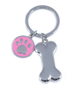 Cute Zinc Alloy Dog Bone Key Chain