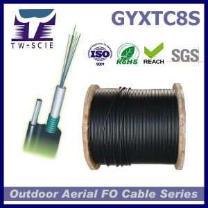 2/4/6/8/12/16/24 Core Core Fig8 Aerial Itu-T Armour Fiber Cable (GYXTC8S) pictures & photos
