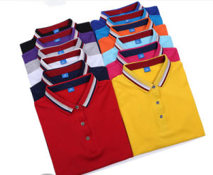 Custom 100% Cotton Colorful Company Staff Good Quality Unisex Polo Shirt pictures & photos
